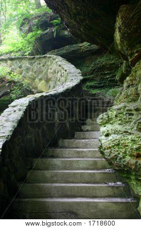 Stone Stairway Scene