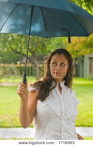 Beautiful Woman Holding Umbrella 4