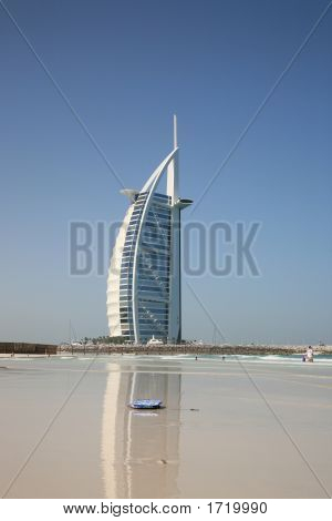 Modern Hotel Building View From Jumeira Beach