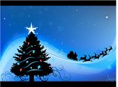 pic of christmas cards  - Blue Christmas card vector background - JPG