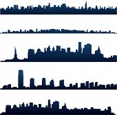 image of city silhouette  - New York City silhouettes - JPG
