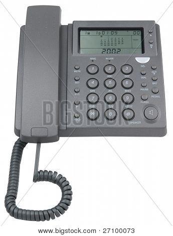 Answering machine telephone. Isolated