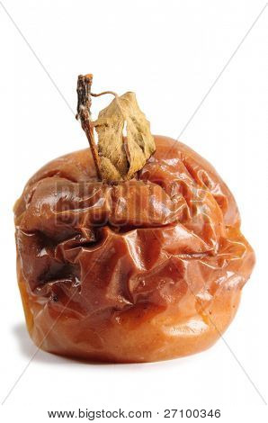 Rotten apple. Isolated
