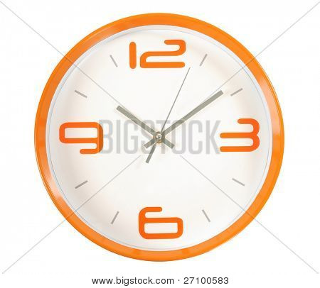 Wall clock. Isolated