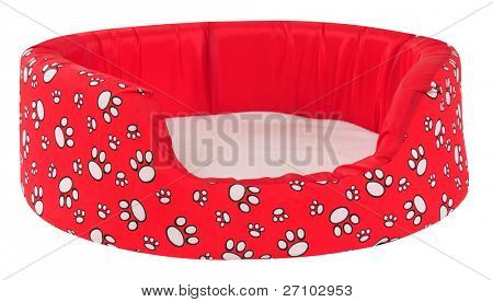 Pet bed. Isolated