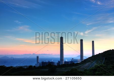 Mountain sunset in hongkong