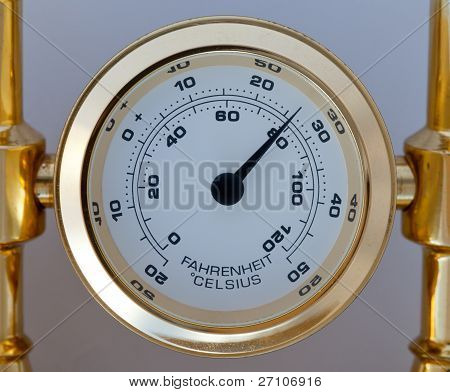 Gold Colored Thermometer