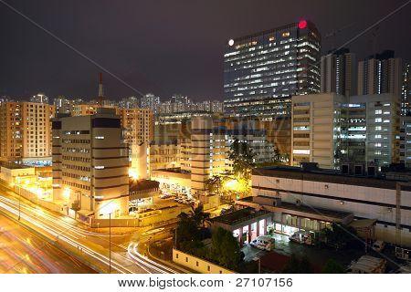 noite de centro urbana, hong kong
