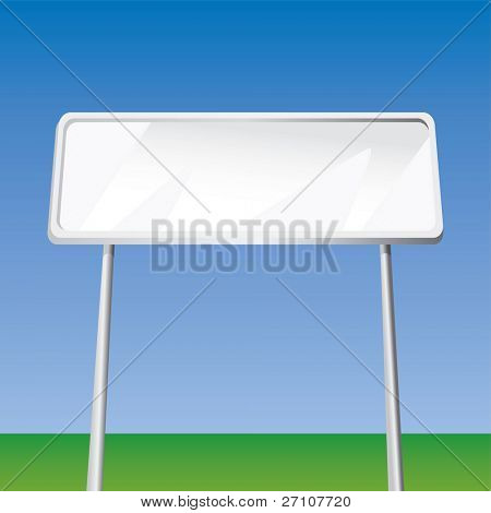 Blank Billboard (Fully Editable Vector Image)