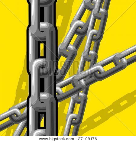 Chains (vector). In the gallery also available XXL jpeg image made from this vector