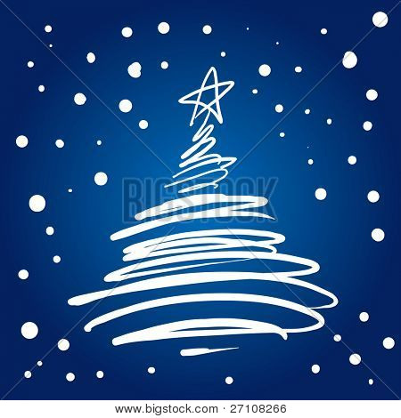 Christmas Tree Flourish (also available vector version of this image in our gallery)