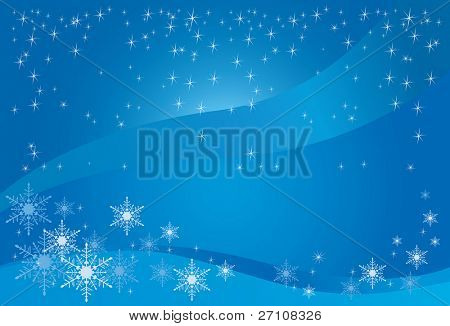 Winter Magic Background (vector). In the gallery also available XXL jpeg image made from this vector