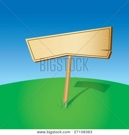 Blank Wooden Sign (vector). In the gallery also available XXL jpeg image made from this vector