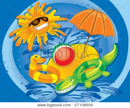 Summer Fun (vector). In the gallery also available XXL jpeg image made from this vector