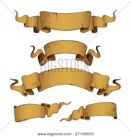 Old Banners (vector). In the gallery also available XXL jpeg image made from this vector