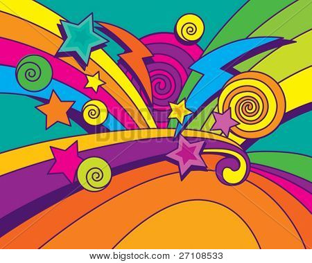 Big Bang Background (vector). In the gallery also available XXL jpeg image made from this vector