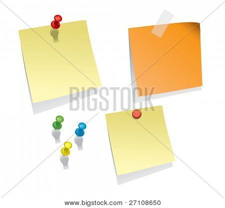 Note Papers (in the gallery also available vector version of this image)