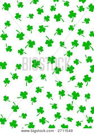 Shamrock  Background On White
