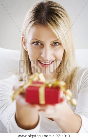 Woman Offering Present
