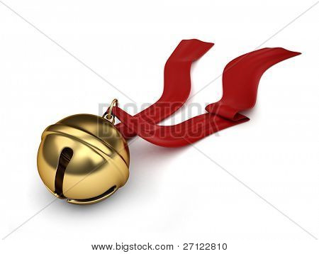 3D Illustration of a Sleigh bell
