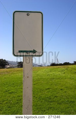 Blank Scenic Sign