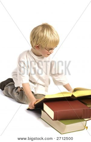 Child Is Reading Books