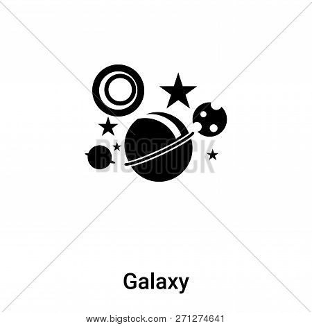 poster of Galaxy Icon In Trendy Design Style. Galaxy Icon Isolated On White Background. Galaxy Vector Icon Sim