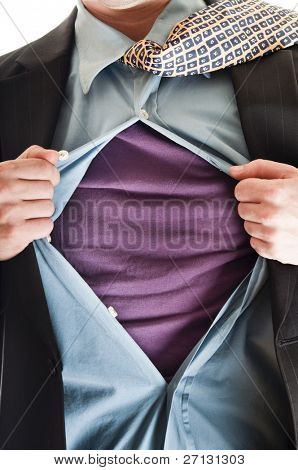 Business man in super hero concept