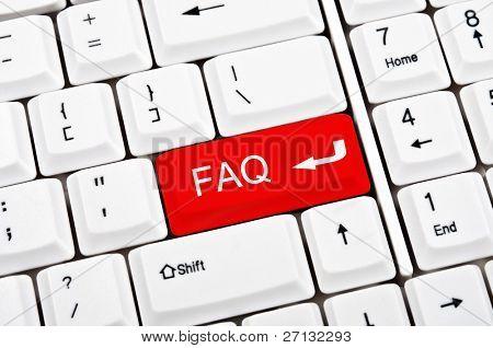FAQ-Taste anstelle der EINGABETASTE