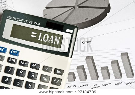 Loan word on electronic calculator
