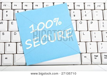 100% secure mesage on keyboard