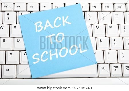 Back to school mesage on keyboard