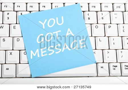 You got message mesage on keyboard