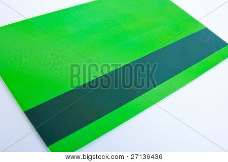 green access card on white background - down side