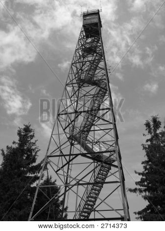 Bw Fire Tower