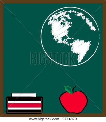 Chalkboard Apple N Earth