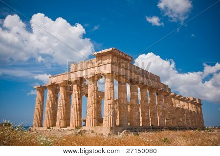 Ruins of greek temple, Selinunte, Sicily, Italy