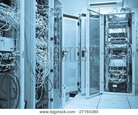server room filled with with racks