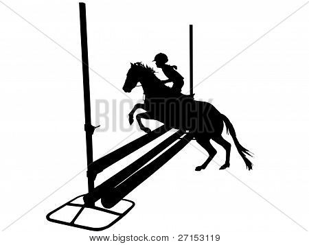 Show Jumping Silhouette