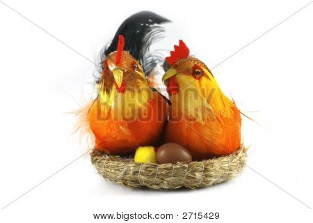 Easter Chickens In Love