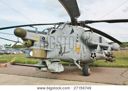 Combat Helicopter With Armaments