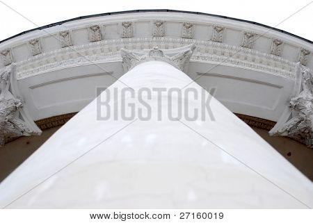 White column of museum
