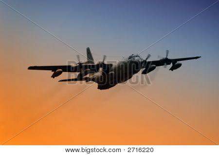 Avião da força aérea em vôo