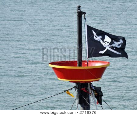 Flying Pirate Flag