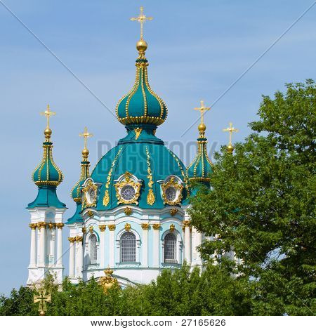 St. Andrew's church in Kyiv, Ukraine