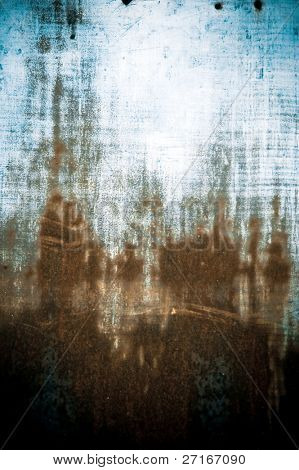 a grunge texture of rust