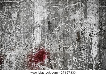 excellent cement wall with scratches