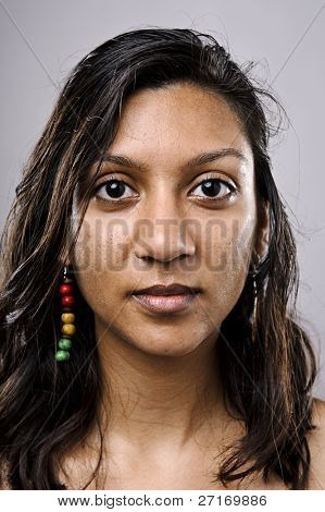 Indian woman face, high detail portrait