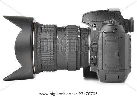 professional digital photo camera isolated on white