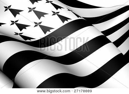 Bandeira da Bretanha, França.
